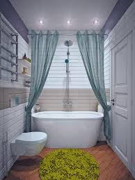 fabulous tiny bathroom with shower curtains also rectangular wall