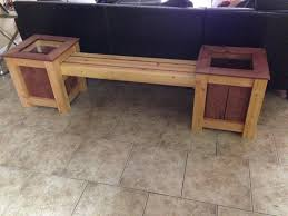 Wood Garden Bench Plans by Building A Garden Bench With Planters Youtube