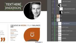 Adobe Illustrator Resume Template Jack Anderson Resume Cv Adobe Illustrator Graphicriver Youtube