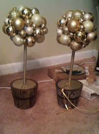 ornament topiary wedding centerpieces chgne diy