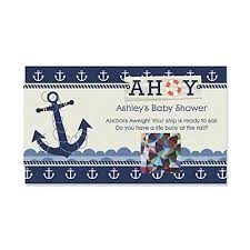baby shower scratch ahoy nautical personalized baby shower scratch cards