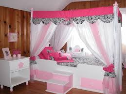 Bed Canopy Curtains Bedroom Beautiful Girl Bedroom Design With Pink Transparent