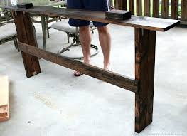 table that goes behind couch behind the sofa table rustic behind sofa table easy sofa table diy