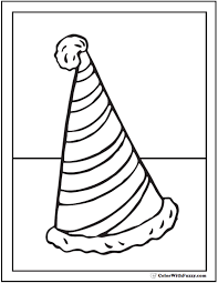 coloring page cone 55 birthday coloring pages customizable pdf