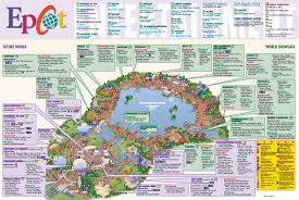 Florida Orlando Map by Epcot World Map U0026 Attractions Located In Orlando Florida