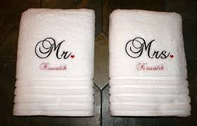 wedding gift towels bath towels i embroidered for wedding gift