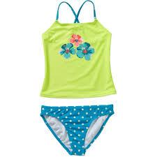 op girls u0027 dolphin dive tankini swimsuit walmart com