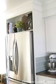 built in refrigerator cabinet home built refrigerator enclosure fridge spaces and kitchens