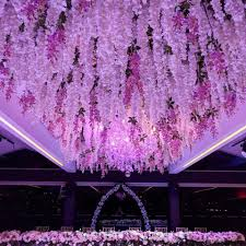 wedding flowers melbourne floral chandelier wisteria installation floral chandelier