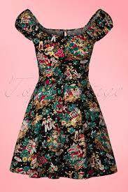 21073 by 50s Monte Carlo Mini Dress In Black