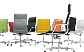 office chair with chrome base for management idfdesign