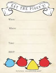 6 images angry birds printable invitations free