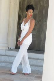 white and gold jumpsuit summer sheer white jumpsuit and gold accents styled by