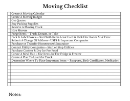 top 5 moving tips moving checklist just tiki
