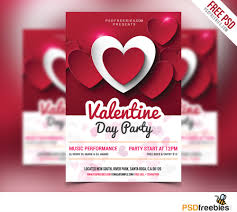 valentines flyer template day flyer free psd psdfreebies