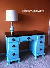 How To Refinish Desk Refinished Desk Craft Room Project The Diy Village