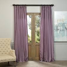 Discount Drapery Panels Exclusive Fabrics Smoky Plum Vintage Faux Dupioni Silk Curtain