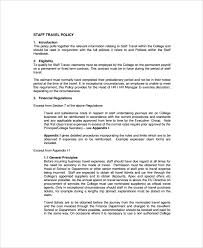 travel policy images Travel policy template jpg
