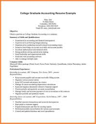 accounting resume template resume sle for fresh graduate accounting template