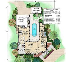 mediterranean floor plans with courtyard mediterranean with central courtyard 36143tx architectural
