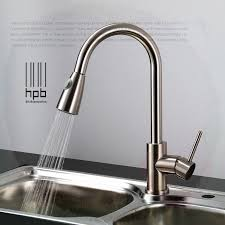 highest kitchen faucets brass sink mixer and cold water tap pull type retractable