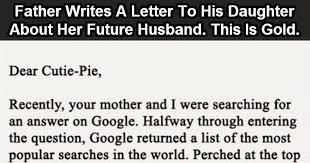 this dad wrote a letter to his daughter about her future husband