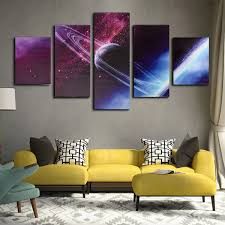 Canvas Painting For Home Decoration by 5 Cascade Night Sky Interstellar Space Globe Canvas Wall Painting