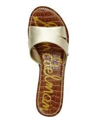 sam edelman gold reid cork wedge sandals in metallic lyst