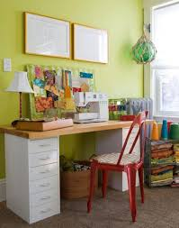 Corner Sewing Table by Organized Sewing Space I Wish I Had A Dedicated Sewing Room S