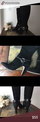 s boots size 9 1 2 suede boots condition antonio melani suede black boots