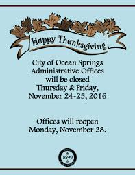 notice office closure for thanksgiving