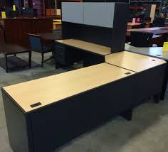 L Desk With Hutch Haworth Modular L Desk With Hutch 499 At Quality Used Office