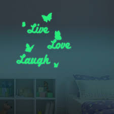 60 x 60 cm luminous fluorescent glow in the dark live love laugh