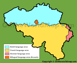 Brussels Germany Map Map Of Languages In Belgium