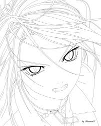 rosario vampire coloring pages coloring