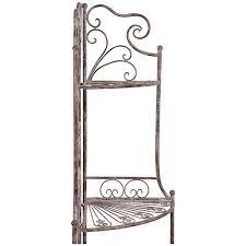 etagere in ferro etagere ad angolo multifunzione richiudibile in ferro battuto