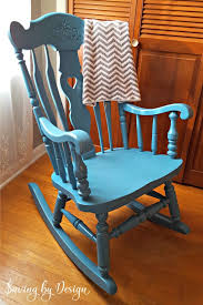 Wooden Rocking Chairs Nursery Nursery Rocking Chair Makeover Spray Paint It For Less Than 10
