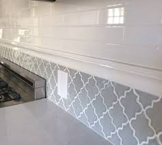 backsplash in my new kitchen subway tiles and arabesque tile