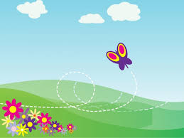 cartoon butterfly and flowers powerpoint template background is a