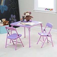 Folding Childrens Table And Chairs Showtime Childrens Folding Table And Chair Set Purple