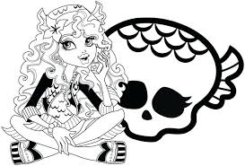 Monster High Halloween Coloring Pages Monster Print Coloring Pages Coloring Pages For High
