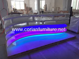 Acrylic Reception Desk White Reception Counter Design Restaurant Reception Desk View
