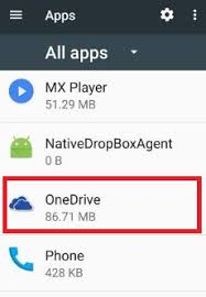 onedrive app for android onedrive has stopped working android phone how to fix