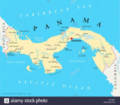 Central America Map Labeled panama political map with capital national borders most