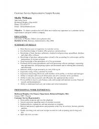 Work Experience Resume Sample Customer Service by Samples Of Resumes For Customer Service Free Resume Example And