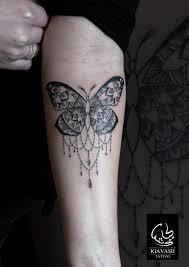 ornamental butterfly forearm tattoos by kiavash