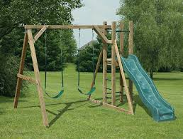 Swing Set For Backyard by Pressure Treated Outdoor Playground Swingsets Amish Built