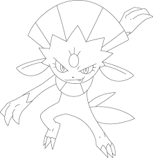pokemon coloring pages rotom weavile coloring page free printable coloring pages
