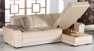 Sectional Sofa Bed With Storage Fabric Modern Sectional Sofa W Storage Space