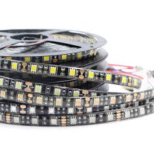 self adhesive strip lights rgb strip light 5050 smd black pcb self adhesive tape lights led